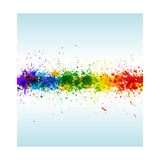 Color Paint Splashes. Gradient Poster by  Designer_things