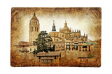 Segovia - Medieval City Of Spain - Retro Styled Picture Posters by  Maugli-l