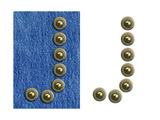 Jeans Rivet Alphabet Letter J. On Jeans Background And Isolated Posters by  donatas1205