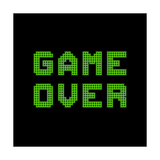 Game Over On A Green Grid Digital Display Print by  wongstock