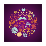 Trendy Hipster Icons Art by  venimo