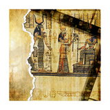Vintage Background With Egyptian Fragments Prints by  Maugli-l