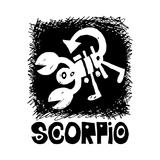 Hand Drawn Sign Of The Zodiac Scorpio Isolated On White Background Posters by Andriy Zholudyev