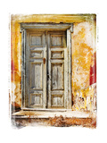 Old Traditional Greek Doors - Artwork In Painting Style Plakater af Maugli-l