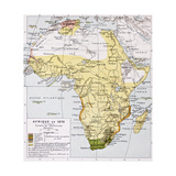 Africa In 1870 Old Map Prints by  marzolino