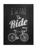 Bicycle Vintage Typographical Background Poster by  Melindula
