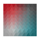 Abstract Triangles Pattern Background Prints by  MiloArt