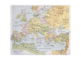 Europe In 1270 Old Map Poster by  marzolino