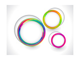 Colorful Rainbow Circle Based Background Posters by rahul pathak
