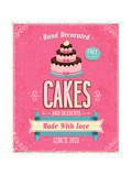 Vintage Cakes Poster Posters by  avean