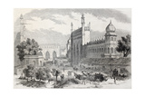 Old Illustration Of Main Street In Lucknow, India Print by  marzolino