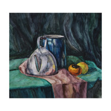 Still Life With Metal Teapot And Milk-Can Art by  Solodkov
