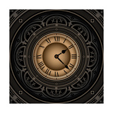 Vintage With Old Clock Premium Giclee Print by  Rashomon