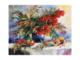Still-Life With A Mountain Ash And Apples Posters by  balaikin2009