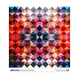 Abstract Colorful Triangles Prints by  adistock