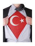 Business Man With Turkish Flag T-Shirt Print by  IJdema