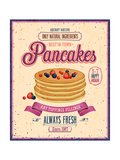 Vintage Pancakes Poster Posters by  avean