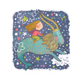 Zodiac Sign - Capricorn Prints by  smilewithjul