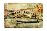 Amazing Venice,Rialto Bridge - Artwork In Painting Style Poster by  Maugli-l