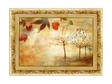 Autumn - Beautiful Painting In Gilded Frame Print by  Maugli-l