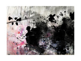 Abstract Black And White Ink Painting On Grunge Paper Texture - Artistic Stylish Background Prints by  run4it
