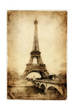 Vintage Parisian Cards Series -Eiffel Tower Posters by  Maugli-l