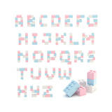 Alphabet Set Made Of Toy Blocks Isolated Poster by  nbvf