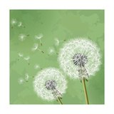 Vintage Floral Background With Dandelion Art by  silvionka