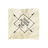 Think Outside The Box - Black Pen Drawing On An Isolated Cocktail Napkin Posters by  PixelsAway
