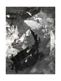 Abstract Black And White Ink Painting On Grunge Paper Texture - Artistic Stylish Background Poster by  run4it