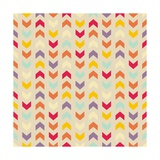 Aztec Chevron Colorful Pattern Poster by  IngaLinder