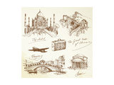 Over the World Travel Prints by  canicula