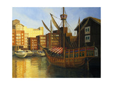 St Katherine Docks In London Posters by  kirilstanchev
