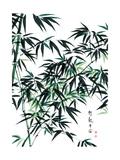 yienkeat - Bamboo Ink Painting. Translation: Wellbeing - Reprodüksiyon