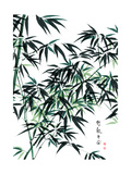 Bamboo Ink Painting. Translation: Wellbeing Lámina giclée prémium por  yienkeat