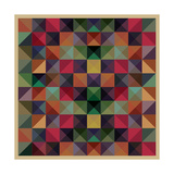 Colorful Triangles Modern Abstract Mosaic Design Pattern Art by  Melindula