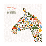 Chinese New Year Of The Horse Posters by  cienpies
