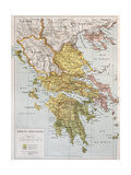 Old Map Of Ancient Greece Plakater af marzolino