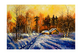 Evening In Winter Village Prints by  balaikin2009