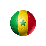 Soccer Football Ball With Senegal Flag Prints by  daboost