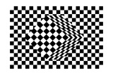 Black And White Cube Optical Illusion Plakater af shooarts