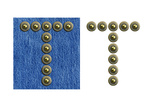 Jeans Rivet Alphabet Letter T. On Jeans Background And Isolated Posters by  donatas1205