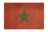 Grunge Sovereign State Flag Of Country Of Morocco In Official Colors Prints by  Speedfighter