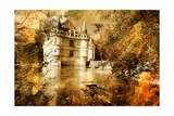 Azey-Le-Redeau Castle - Artwork In Painting Style Posters by  Maugli-l