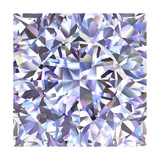 Diamond Geometric Pattern Of Colored Brilliant Triangles Prints by  oneo
