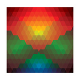 Abstract Colorful Of Diamonds And Triangles Shapes Prints by  smarnad