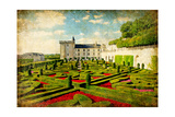 Villandry Castle - Retro Styled Picture (From My Castles Collection) Poster by  Maugli-l