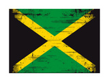 Jamaican Grunge Flag An Old Jamaican Flag Whith A Texture Print by  TINTIN75