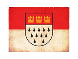 Grunge Flag Of Cologne (North Rhine-Westphalia, Germany) Prints by  cmfotoworks
