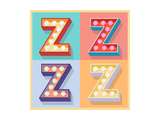 Simple And Clear Flat Lamp Alphabet - Letter Z Posters by  dgbomb